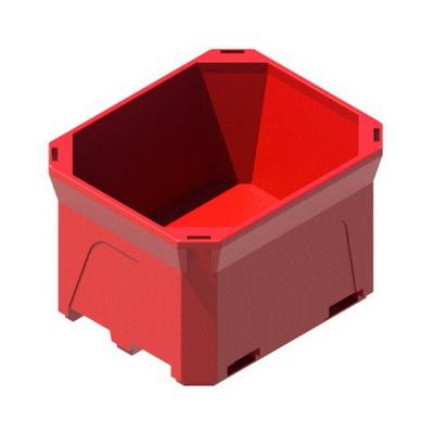 Термоконтейнер Т660 с крышкой, изотермический контейнер, пищевой контенер изолированный