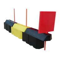 дорожный барьер ТРАССА, пластиковый вкладывающийся дорожный барьер, водоналивной вставной барьер, дорожное ограждение, пластиковый отбойник