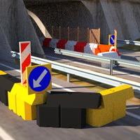 дорожный барьер трасса,пластиковый вкладывающийся дорожный барьер, водоналивной вставной барьер, дорожное ограждение, пластиковый отбойник