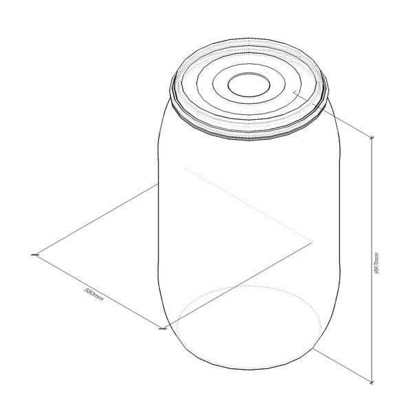 V200 емкость вертикальная пластиковая