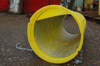 Пластиковый строительный мусоросброс, установка с оттяжкой, защитный вкладыш, строительный мусоропровод, мусороспуск, увеличенная прочность