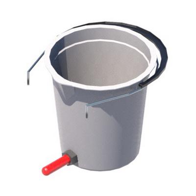 Ведро для поения телят с клапаном и соской
